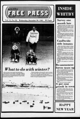 Whitby Free Press, 30 Dec 1981