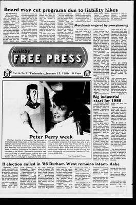 Whitby Free Press, 15 Jan 1986