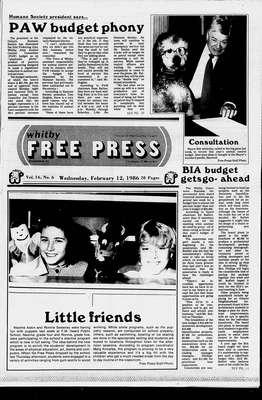 Whitby Free Press, 12 Feb 1986