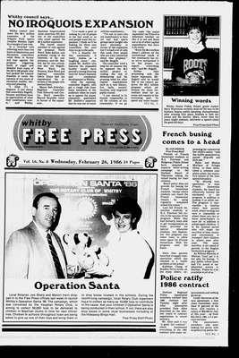 Whitby Free Press, 26 Feb 1986