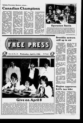 Whitby Free Press, 2 Apr 1986