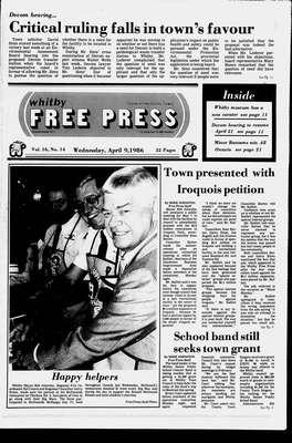 Whitby Free Press, 9 Apr 1986
