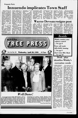 Whitby Free Press, 23 Apr 1986