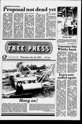 Whitby Free Press, 23 Jul 1986
