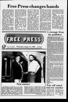 Whitby Free Press, 13 Aug 1986