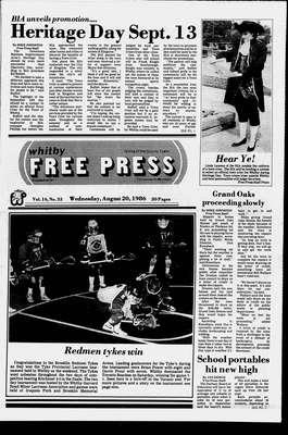 Whitby Free Press, 20 Aug 1986