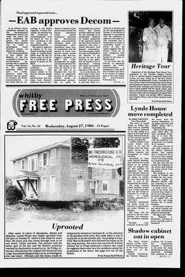 Whitby Free Press, 27 Aug 1986