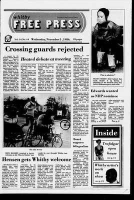 Whitby Free Press, 5 Nov 1986