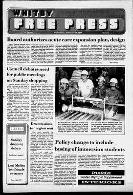 Whitby Free Press, 10 Feb 1988