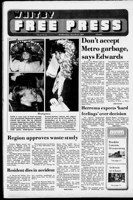 Whitby Free Press, 16 Mar 1988