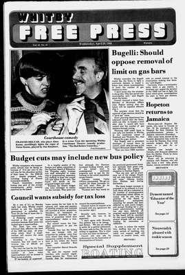 Whitby Free Press, 20 Apr 1988