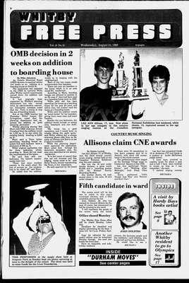 Whitby Free Press, 31 Aug 1988