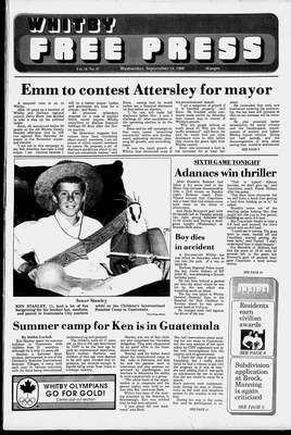 Whitby Free Press, 14 Sep 1988