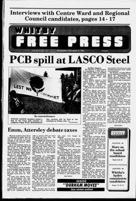 Whitby Free Press, 9 Nov 1988
