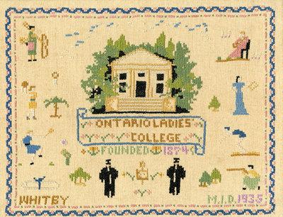 Sampler of Ontario Ladies' College, 1935