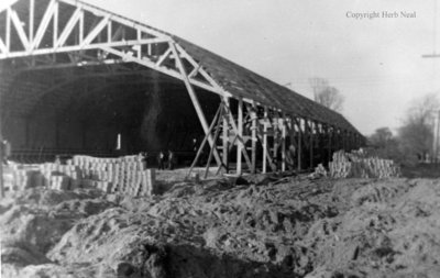 Building Whitby Community Arena, 1953
