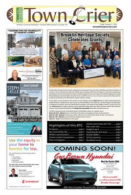 Brooklin Town Crier, 21 Feb 2020