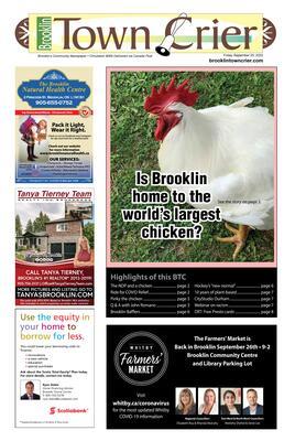 Brooklin Town Crier, 25 Sep 2020