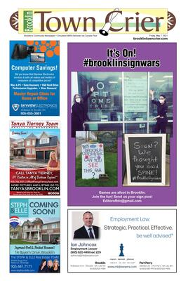 Brooklin Town Crier, 7 May 2021