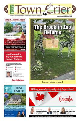 Brooklin Town Crier, 18 Jun 2021