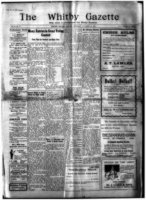 Whitby Gazette, 19 Oct 1911