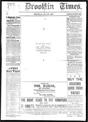The Brooklin Times, 28 Jul 1885