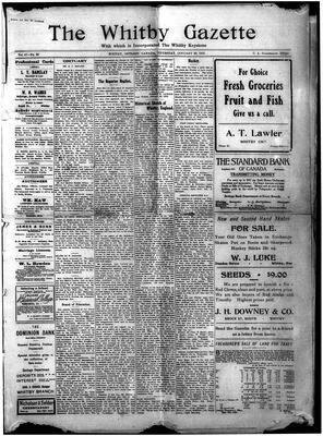 Whitby Gazette, 20 Jan 1910