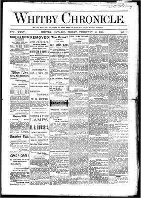 Whitby Chronicle, 20 Feb 1891