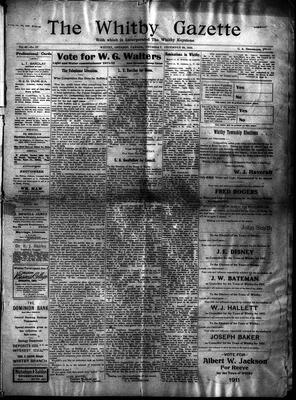Whitby Gazette, 29 Dec 1910