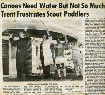 Trent Frustrates Scout Paddlers