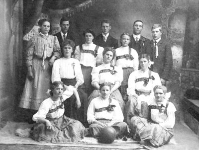 Myrtle Basketball Club, c.1908