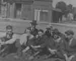 Group of Men on Brock Street South