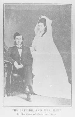 Wedding Photograph of Dr. and Mrs. J.J. Hare, September 28, 1874