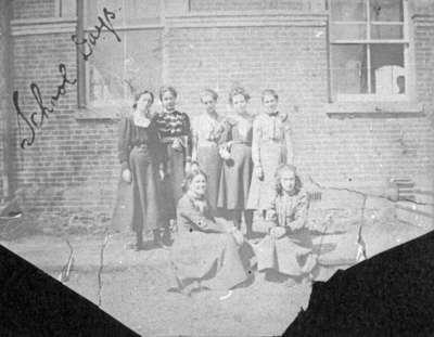 Group of Students at Whitby Collegiate Institute, c.1900