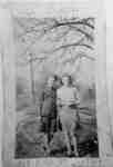 Photograph of Ethel and Dorothy Foster standing outside