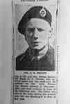 Portrait Photo of Newspaper Clipping about Cpl. A. W. Brown