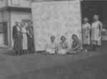Officers of Daughters of England Lodge with quilt, c.1935
