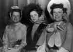 """Women dressed in costume for Whitby Modern Players Gay Nineties Theatrical Production which was part of """"Varieties of 1948"""", 1948"""