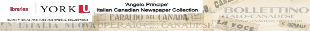 Angelo Principe' Italian Canadian Digital Newspaper Collection