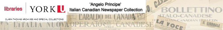 Italian Canadian Digital Newspaper Collection