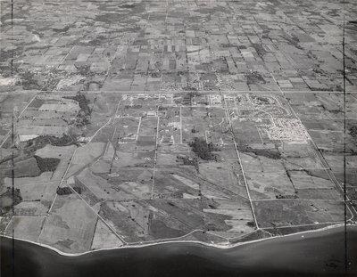 Aerial photo of Ajax, May 5, 1958 - Ajax -Aerial Photograph