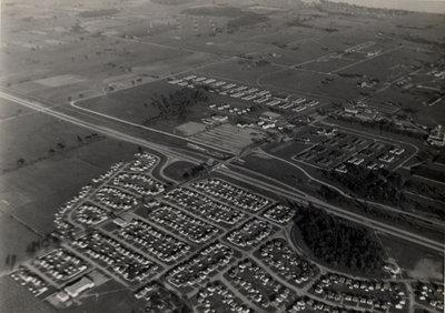 Aerial photo of Ajax, c. 1945