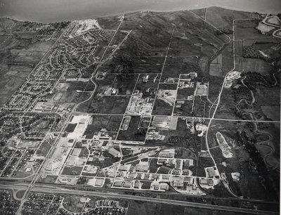 Aerial photo of Ajax, April 8, 1970