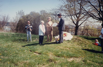 Colour photo of David Percival and the Puckrin Sisters.