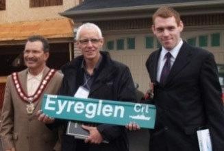 Ajax Veterans Street Dedication: Eyreglen Court