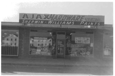 Ajax Hardware Store, Ajax 1959