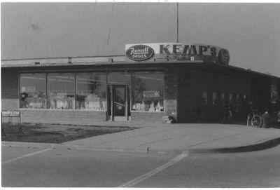 Kemp's Pharmacy, exterior, Ajax 1959