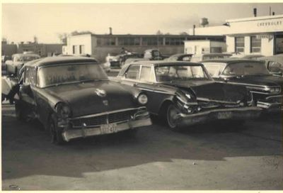 Don Kemp's Car, and other, after accident, Ajax c.1960