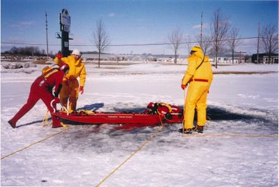 Ice Water Training, Ajax Fire Department
