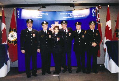 Medal award ceremony, Ajax Fire Department